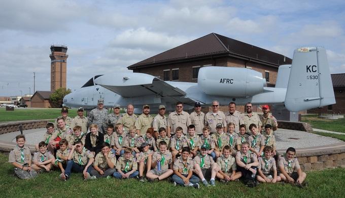 Lee's Summit Boy Scout Troop 54 visits 442nd FW
